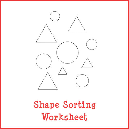 Shape Sorting Worksheet