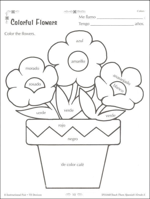 Spanish Worksheets For 1st Grade Worksheets For All