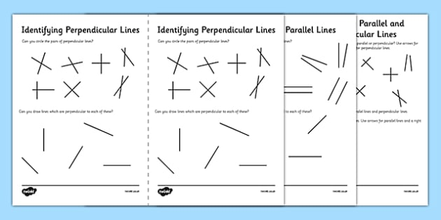 Identifying Parallel And Perpendicular Lines Worksheet