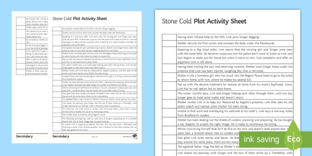 Plot Sequence Worksheet   Activity Sheet To Support Teaching On