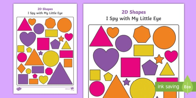 2d Shapes I Spy With My Little Eye Activity
