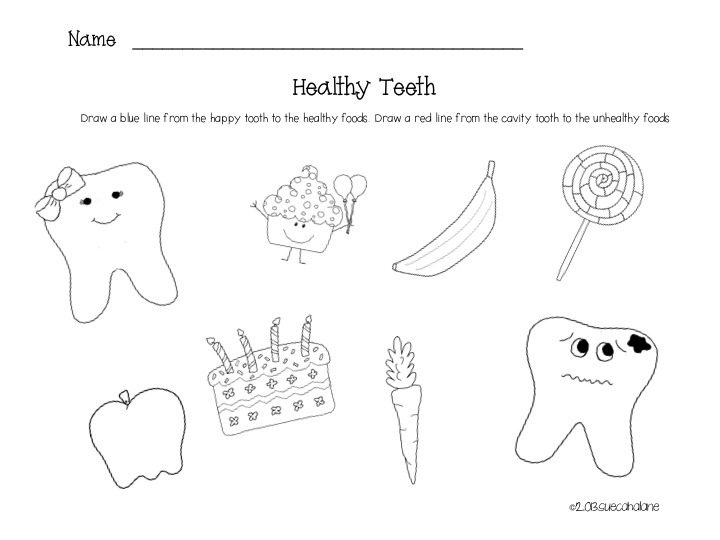 Teeth Worksheets For Kids