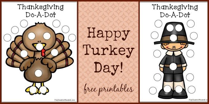 Thanksgiving Do A Dot Sheets