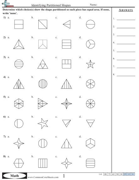 Fraction Worksheets