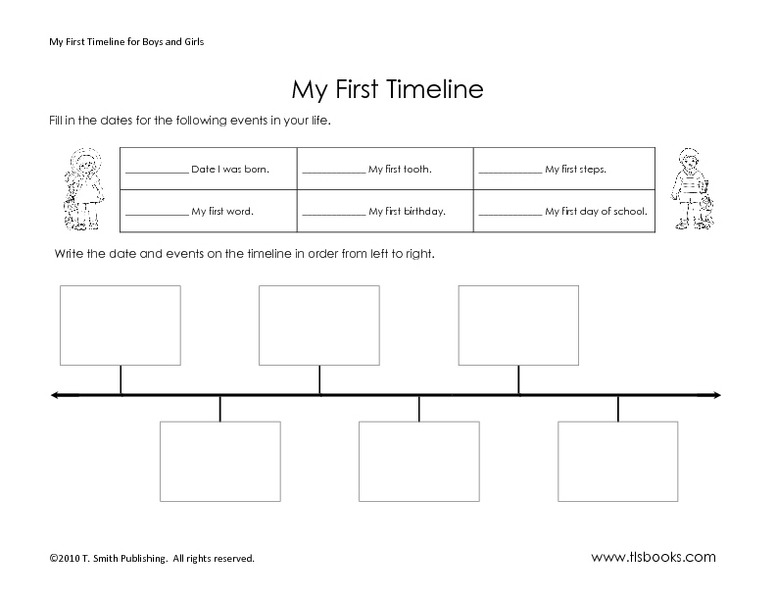 Timeline Worksheets For 2nd Grade Worksheets For All