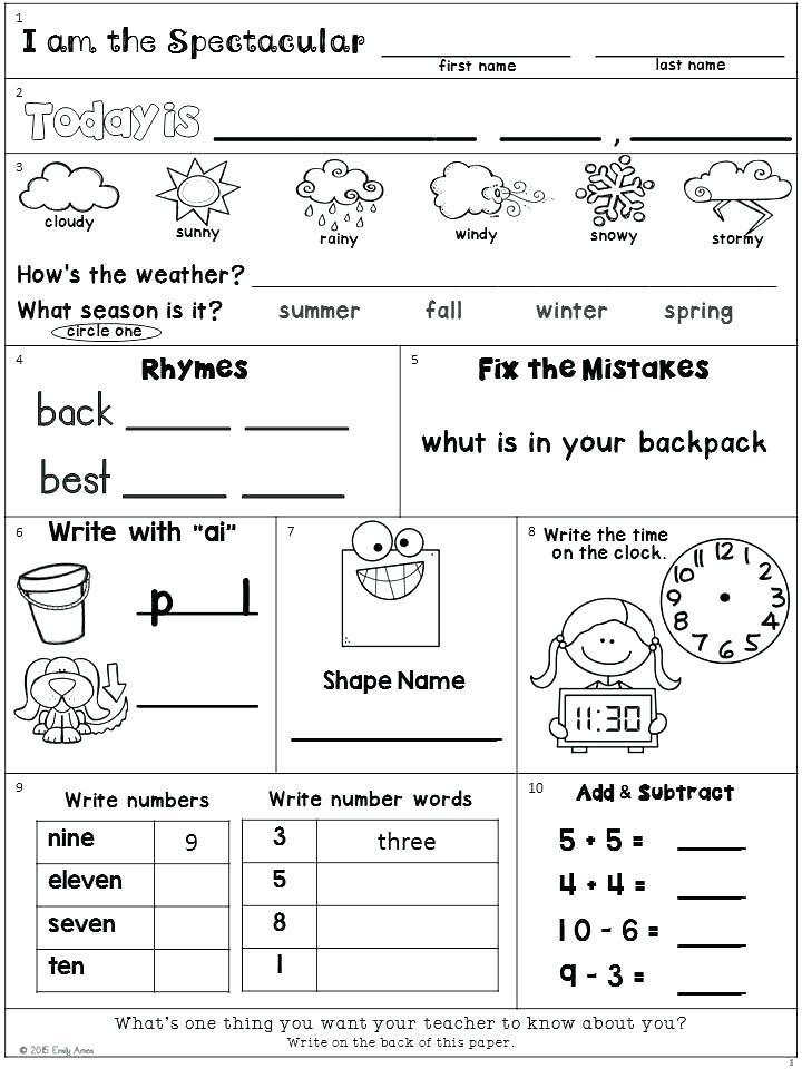 Worksheets 2nd Grade Weather Worksheets Free First First Grade