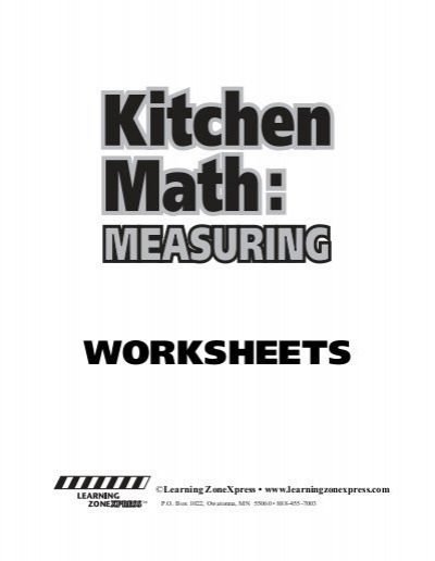 Kitchen Math W
