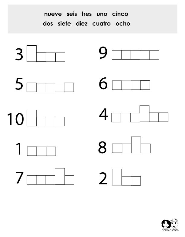 Number Worksheet Spanish