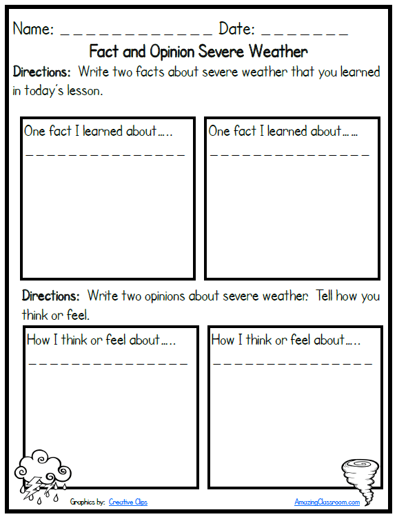 Weather Worksheets Education Com