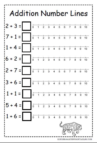 Number Line Addition Worksheets Free Printables Number Line