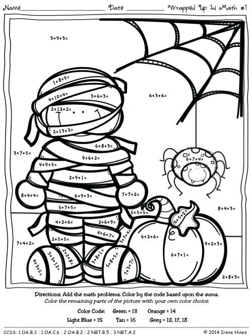 Halloween Color By Number Pages Halloween Color By Number