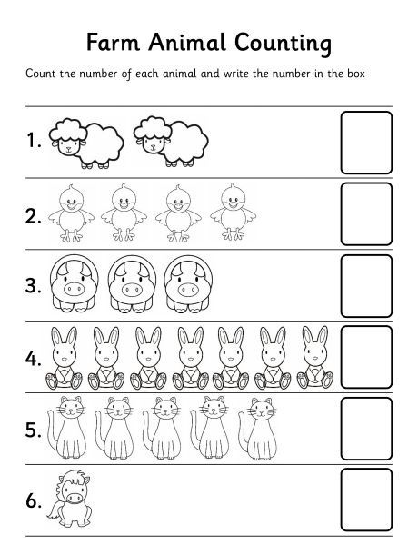 Farm Animal Counting Worksheetlet Children Stamp Numbers In Or