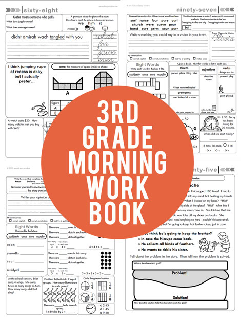 3rd Grade Common Core Aligned Morning Work