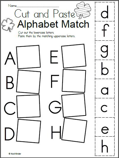 Free St  Patrick's Day Alphabet Matching Worksheet