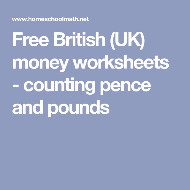 Free British (uk) Money Worksheets