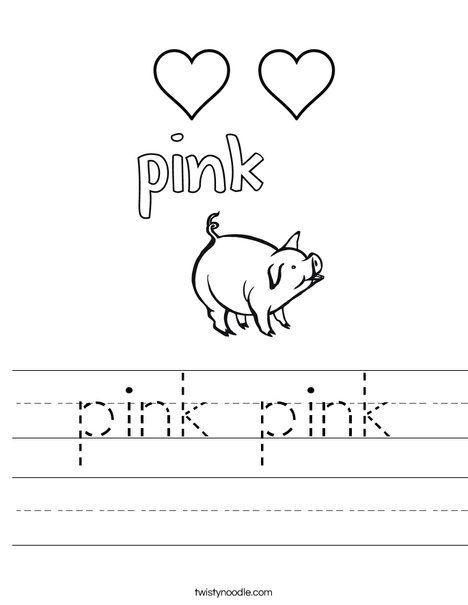 Pink Pink Worksheet