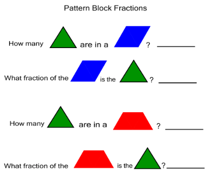 Image Result For Teaching Fractions With Pattern Blocks Worksheets