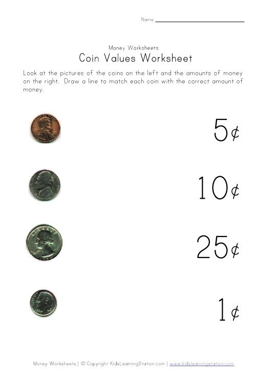 Money Coins Worksheet