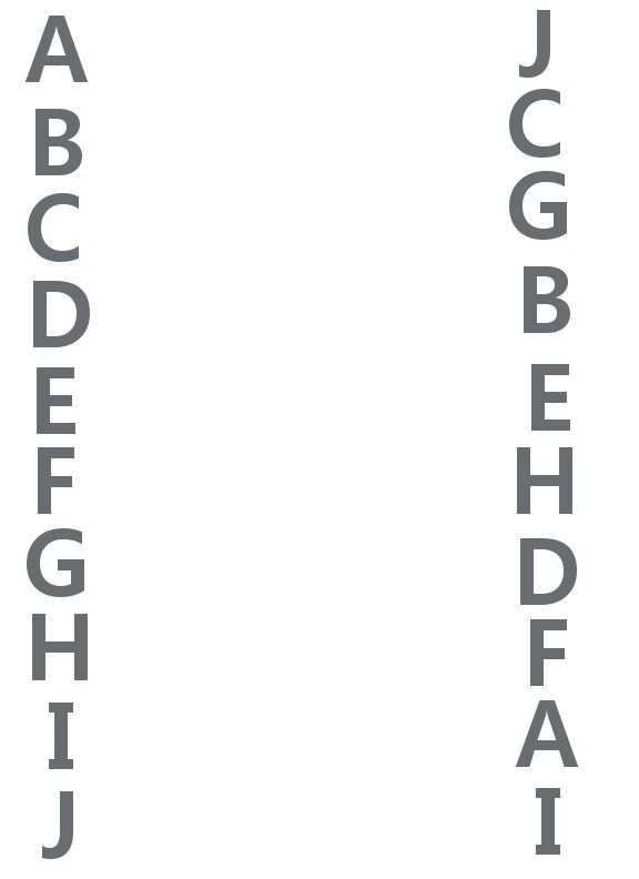 Letters A