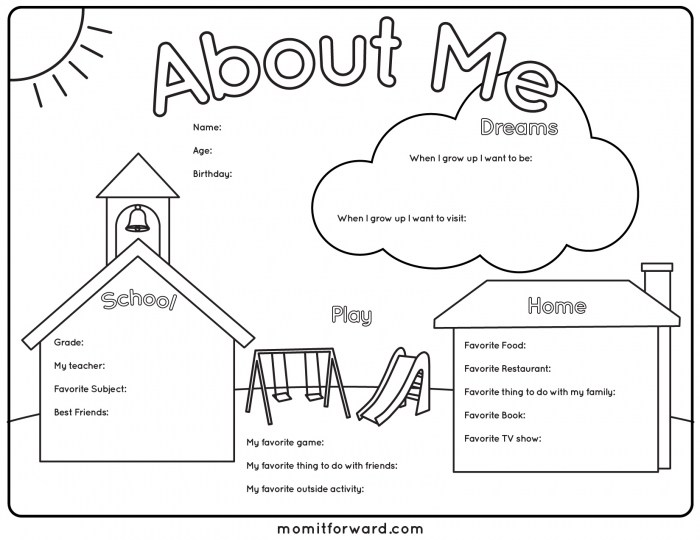 About Myself Worksheet Worksheets For All