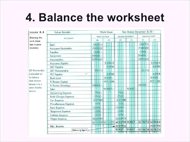 Accounting 8 Column Worksheet Template Of Example Free Templates