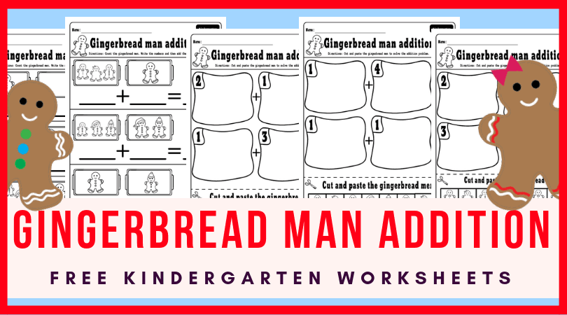 Christmas Addition Worksheets For Kindergarten Holiday Math