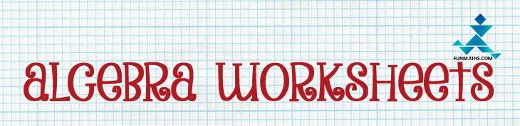 Algebra Worksheets  Printable High School Math Worksheets