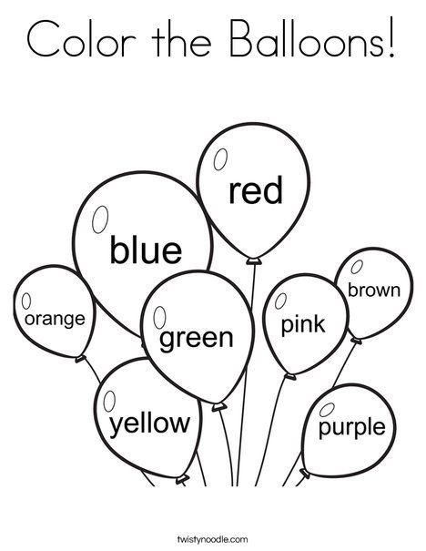 3 Year Old Printable Worksheets Colors