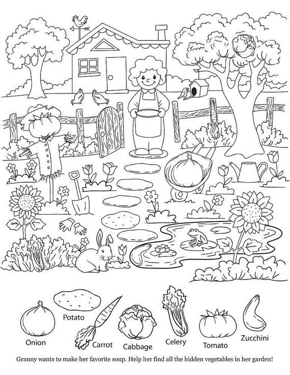 Printable Hidden Objects Coloring Pages