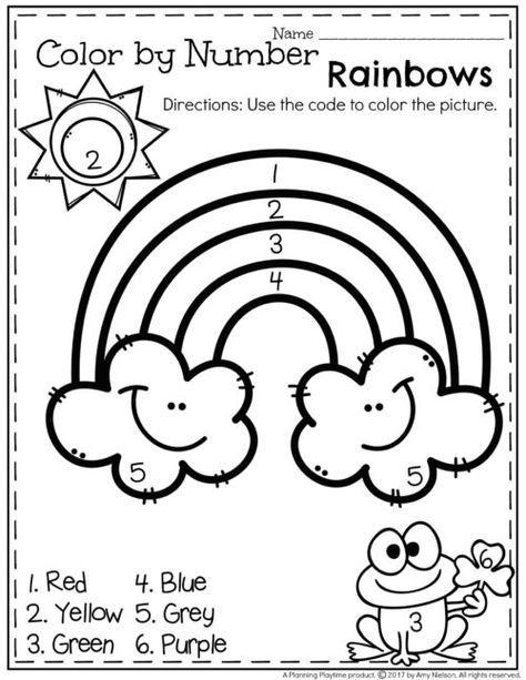 March Preschool Worksheets