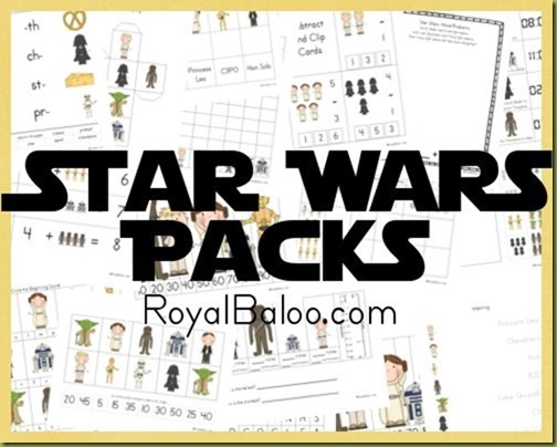 Free Homeschool Printables  Star Wars Free Printable Worksheets Pack