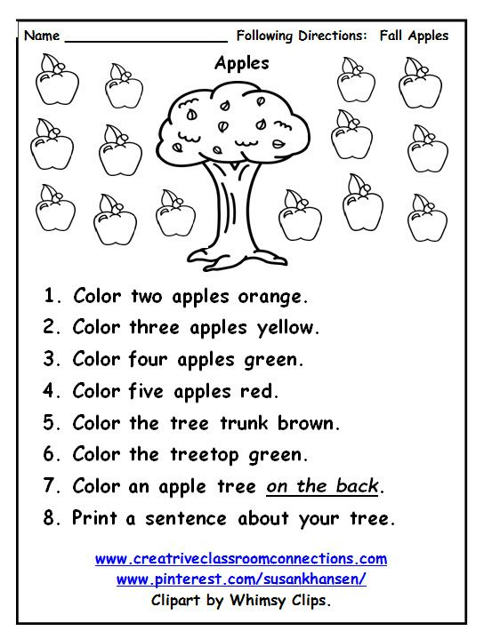 Free Following Directions Worksheet Provides Practice With Color