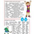 Past Tense Worksheets For Kids