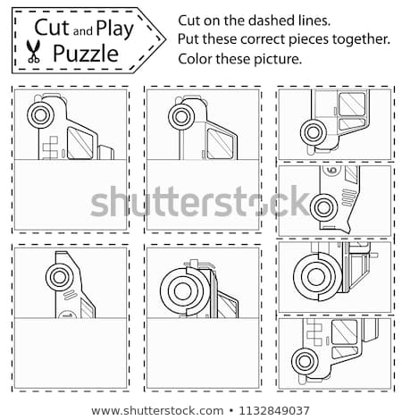 Children Puzzle Game Kids Worksheets Puzzle Stock Vector (royalty