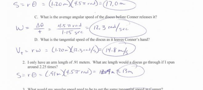 Physics Worksheet
