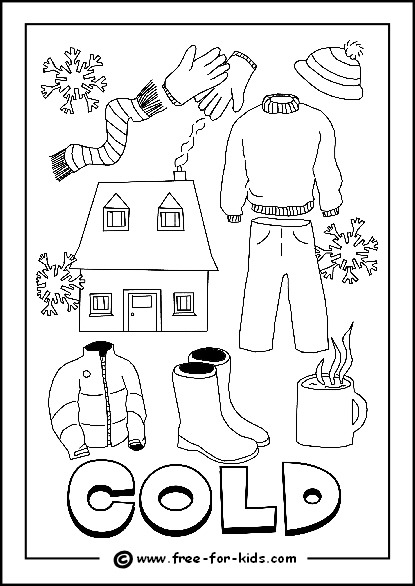 Weather Colouring Pictures For Children