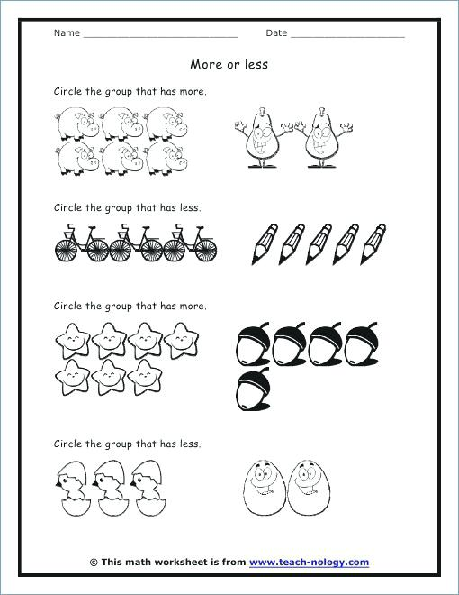 Collection Of Kindergarten Worksheets More Less Download Them And