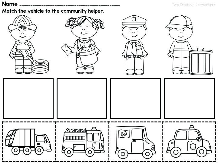 Community Worksheet 1 Helpers Esl Worksheets Workers For