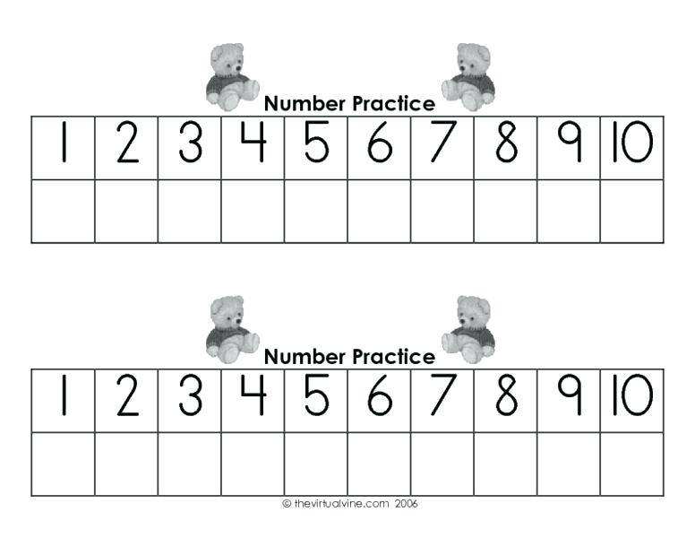 Counting To 10 Worksheets – Vitokens Info