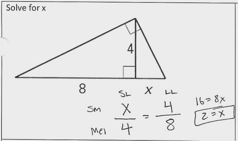 38 Similar Right Triangles Worksheet Graphics