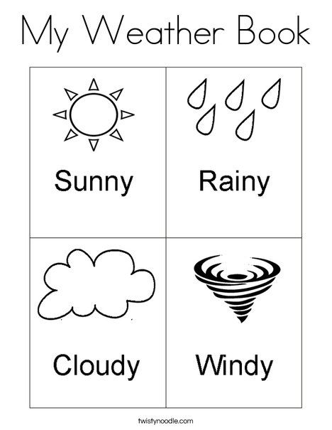 My Weather Book Coloring Page From Twistynoodle Com