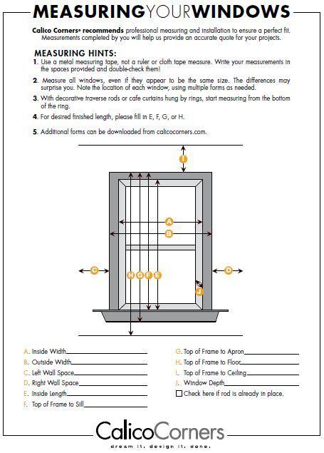 Measuring Your Windows Worksheet