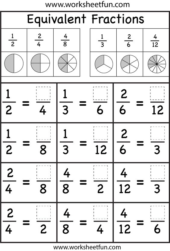 Equivalent Fractions Kids Learningplaying Free Worksheets Samples Worksheets