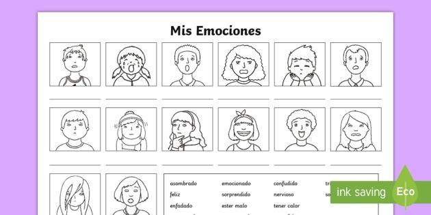 My Emotions Worksheet   Activity Sheet