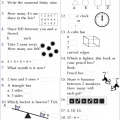Mental Math Worksheets For Grade 2