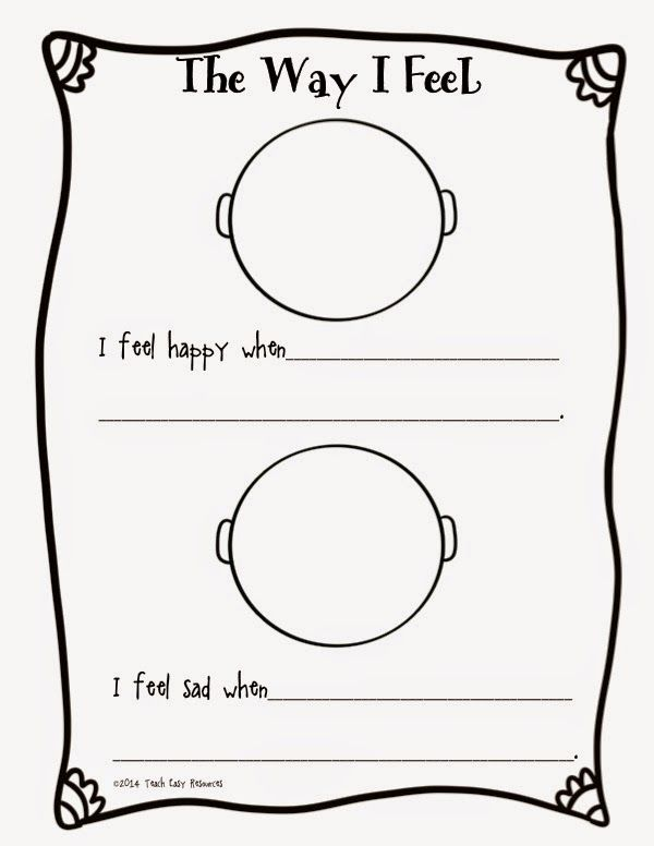Feelings Worksheet And Mini