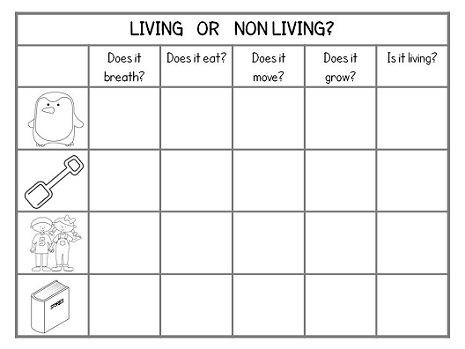 Living Or Non Living  $ Foldable + Worksheets