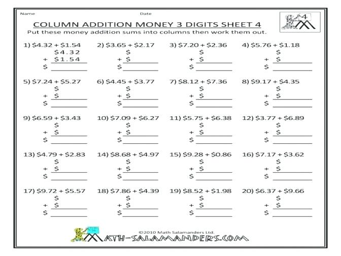 Free Maths Worksheets Ks1 Money Addition Worksheet Enchanting