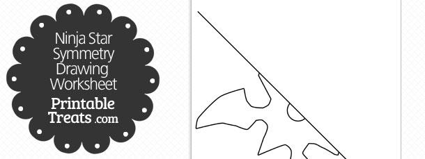 Ninja Star Symmetry Drawing Worksheet — Printable Treats Com