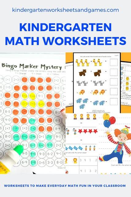 Free Kindergarten Math Worksheets – Kindergarten Worksheets And Games